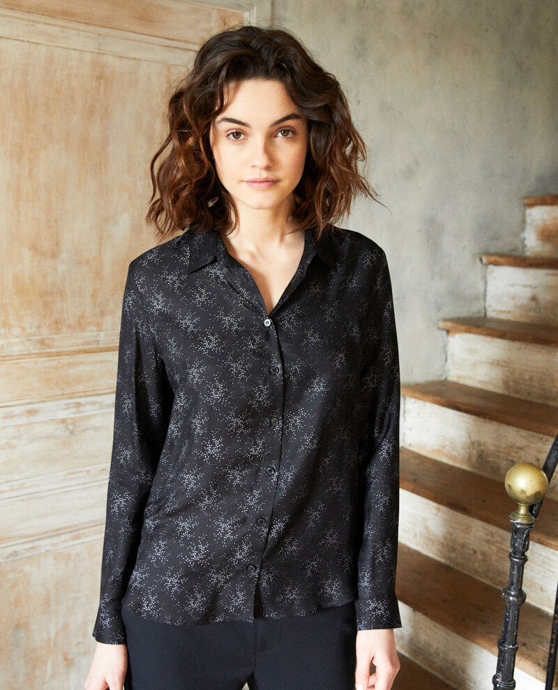 Chemise coupe droite Hurly burly noir Iclim