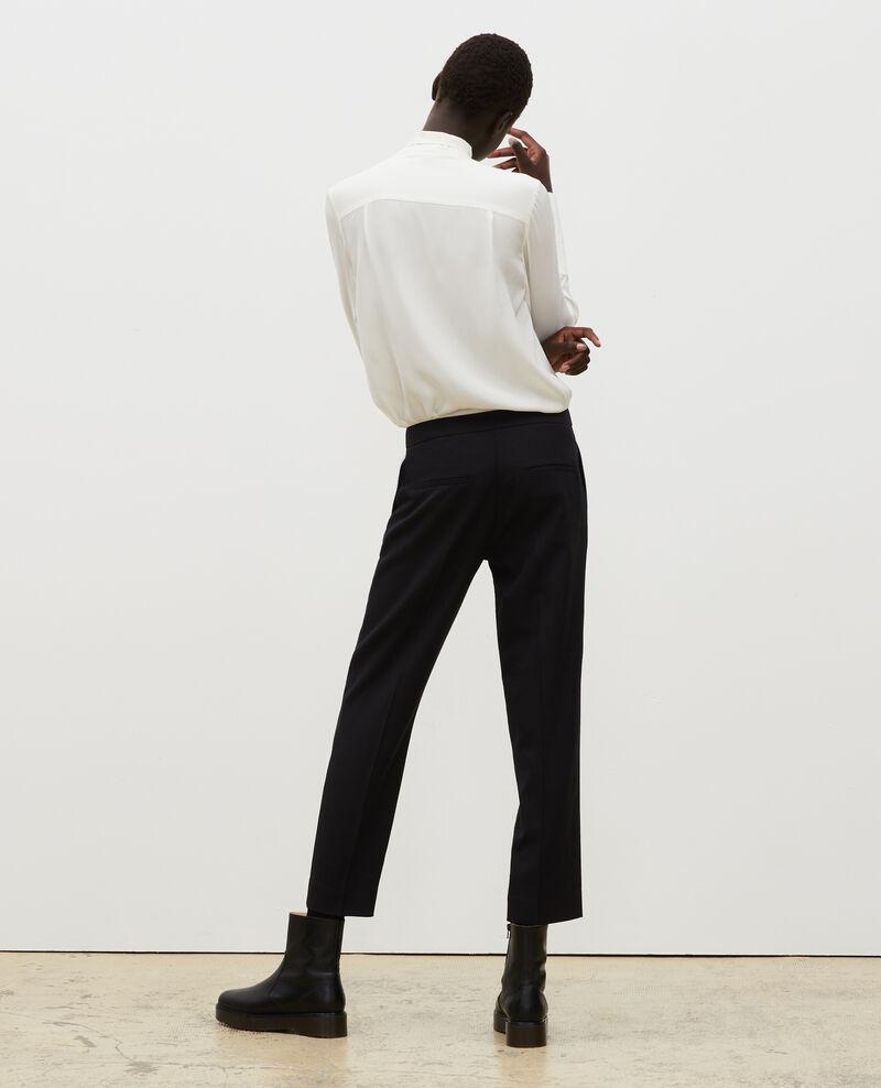 Pantalon MARGUERITE, 7/8e fuselé en laine  Black beauty Mokyo
