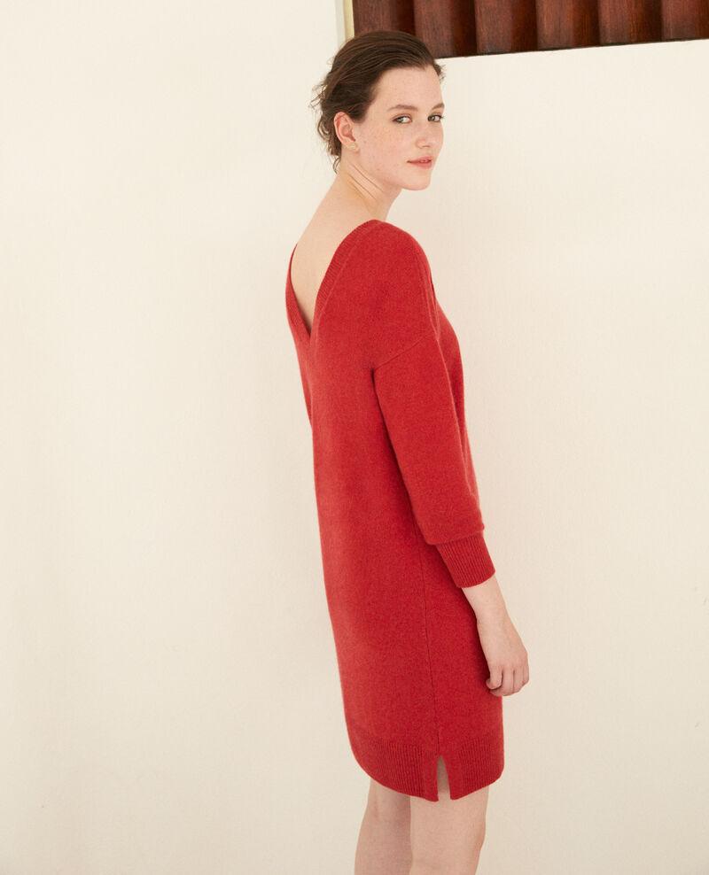 Robe en cachemire Pompeian red Gervina