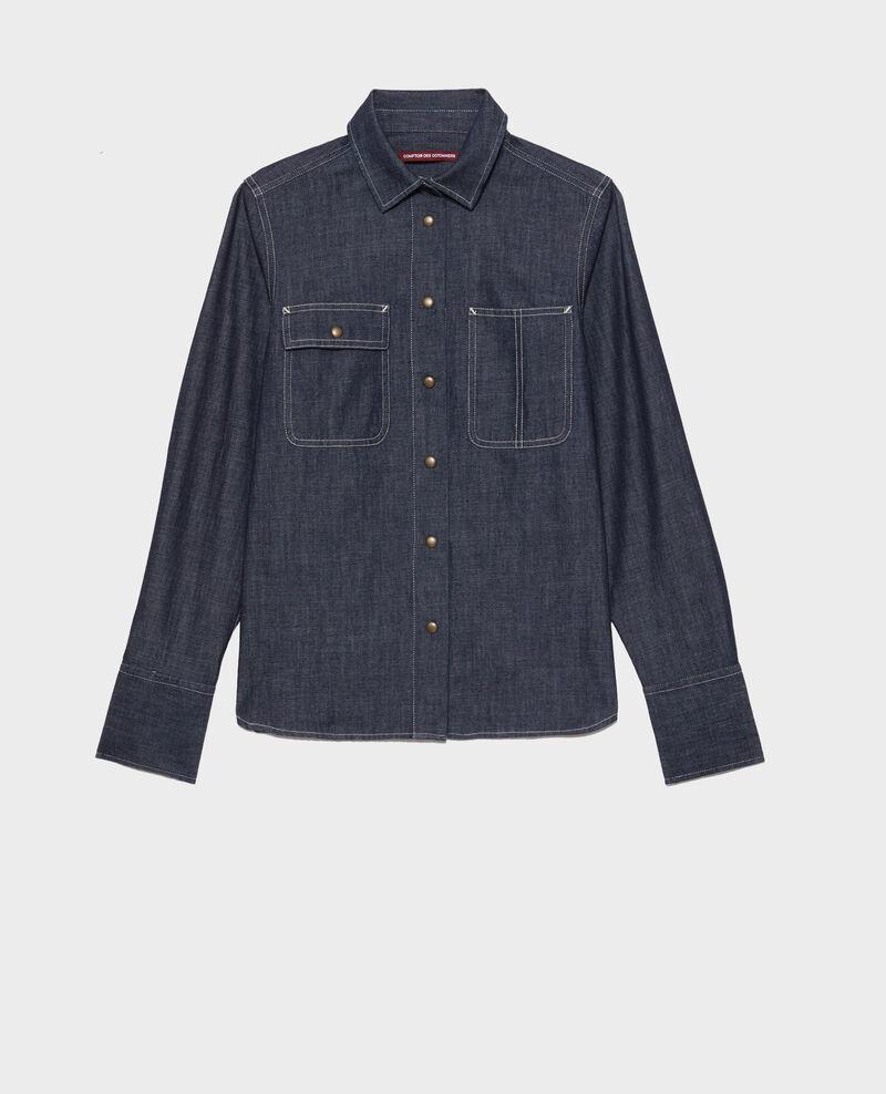 Chemise en jean à poches Denim brut Nadigne