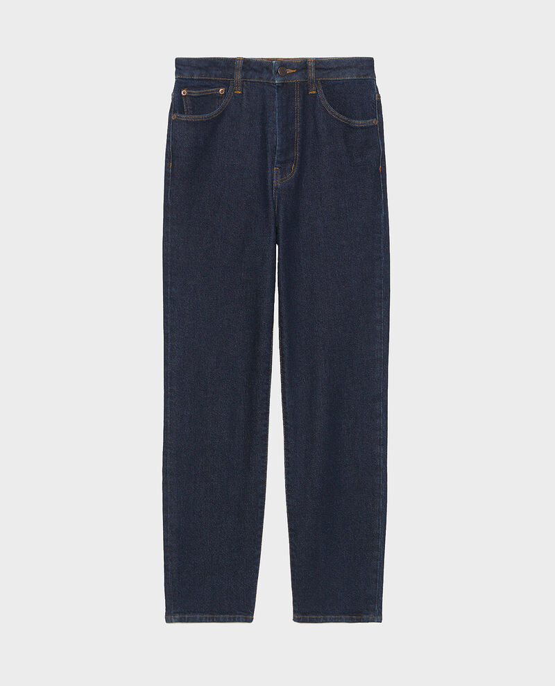 SLIM HIGH RISE - Jean cropped 5 poches Denim rinse Mervilla