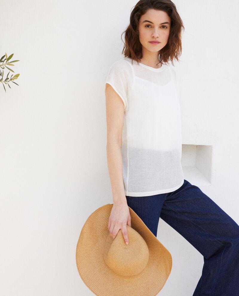 T-shirt intemporel Off white Idele