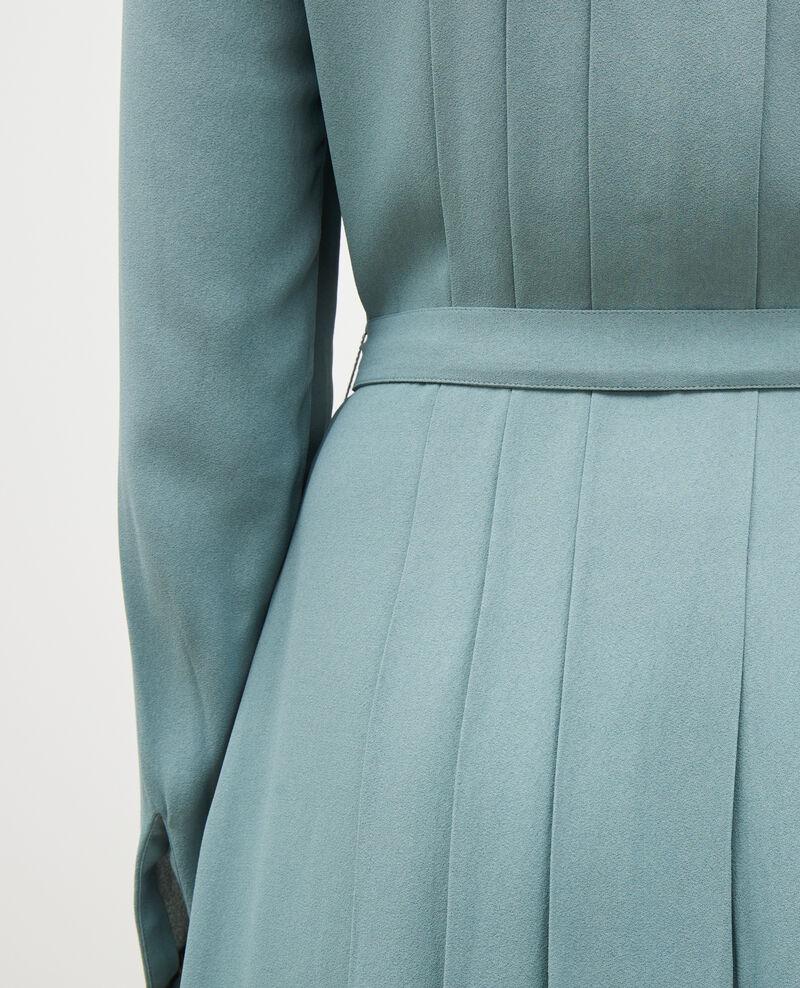 Robe plissée ceinturée Treillis Marcilia