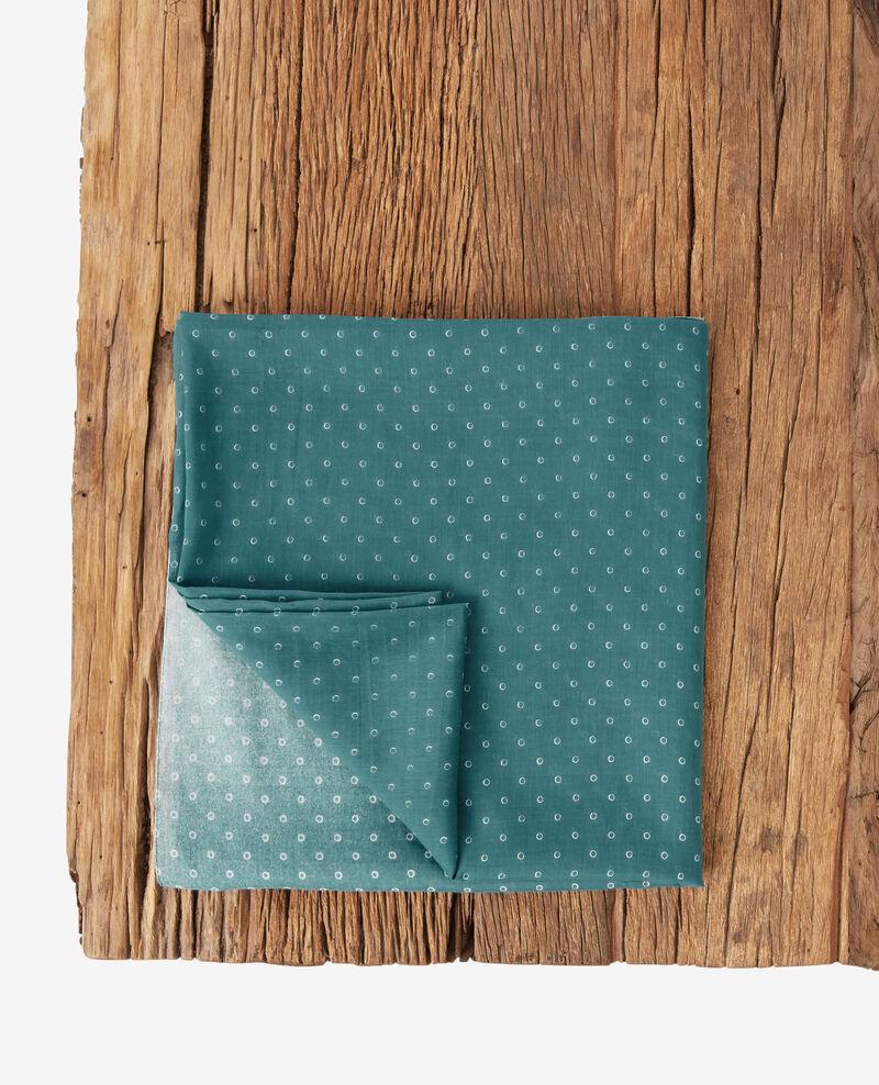 Foulard imprimé en coton et soie Ring dots peppermint Forban