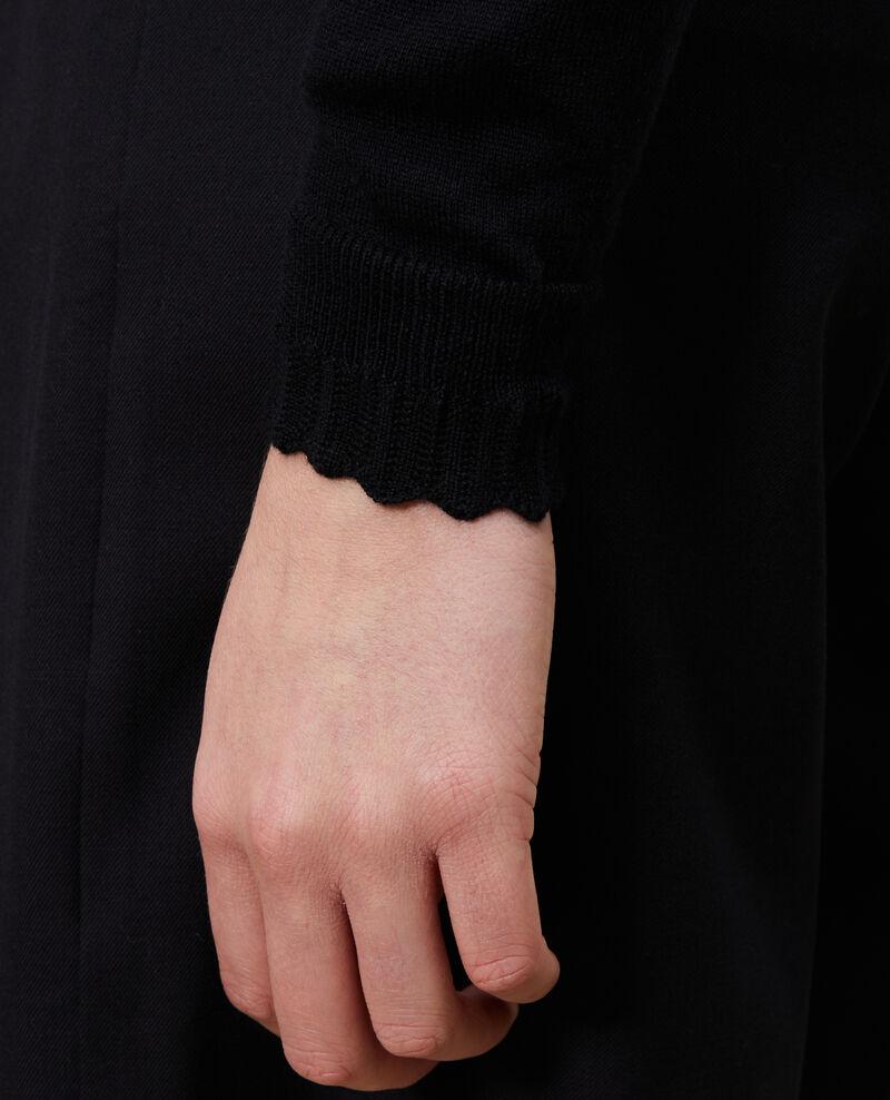 Pull en coton et soie Black beauty Nita