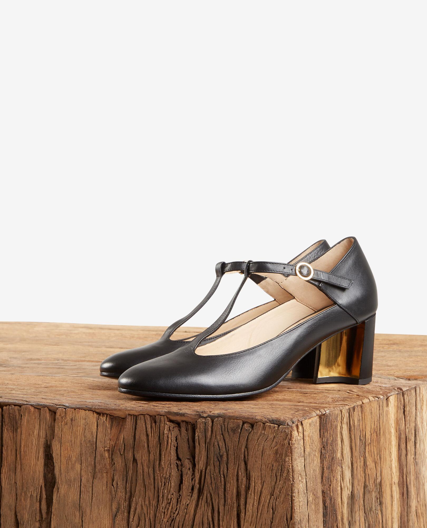 Chaussures Couleur En Femme Comptoir Noir Cuir Salomé Fillette rn7Zfr
