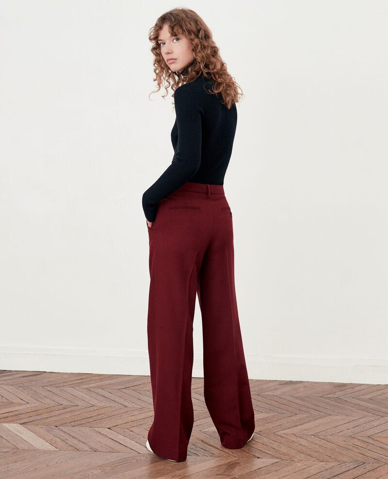 Pantalon ample avec laine Burgundy Declic
