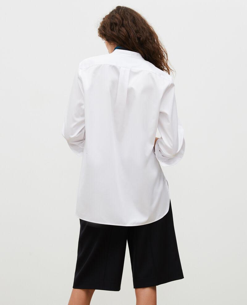 Chemise en coton oversize à plastron Brilliant white Mime