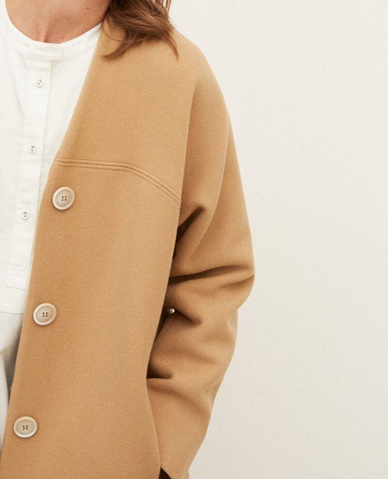 Manteau sans col Tannin Gilhard