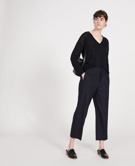 Pantalon en laine sèche italienne DARK NAVY