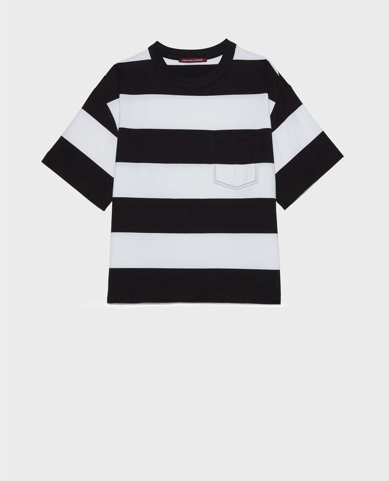 T-shirt en coton mercerisé Str opticalwhite black Lord