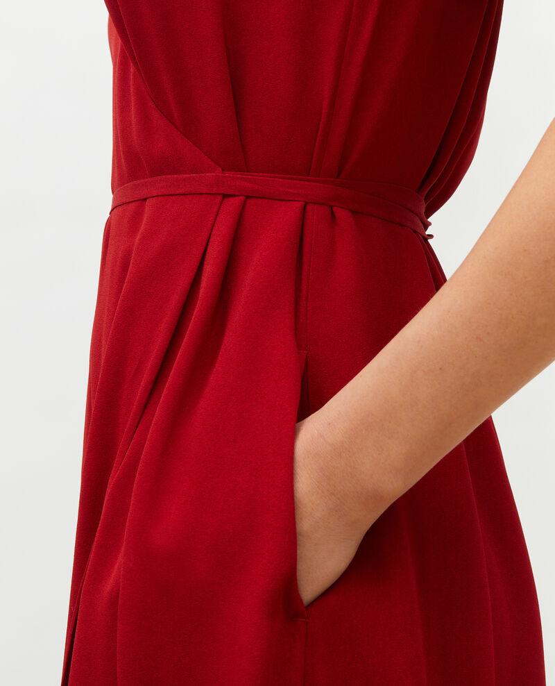 Robe portefeuille longue en viscose Royale red Meymac