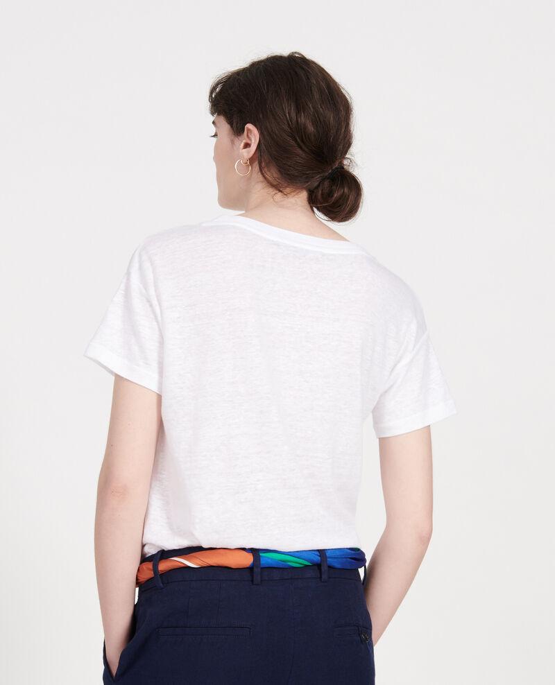 T-shirts en lin Optical white Locmelar