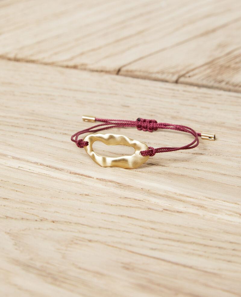 Bracelet en métal Gold/burgundy Iseala