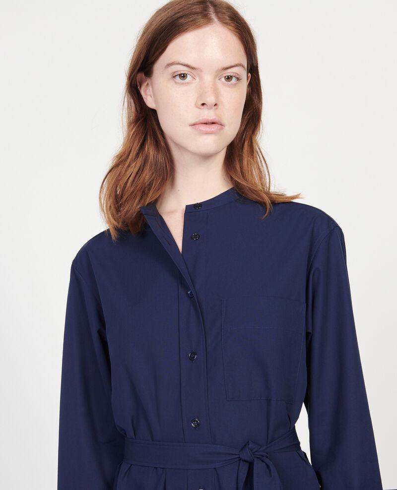 Robe en popeline de coton Maritime blue Liomer