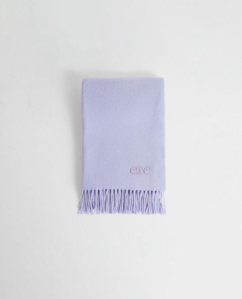 Grande écharpe à franges en laine Pastel lilac Mautes