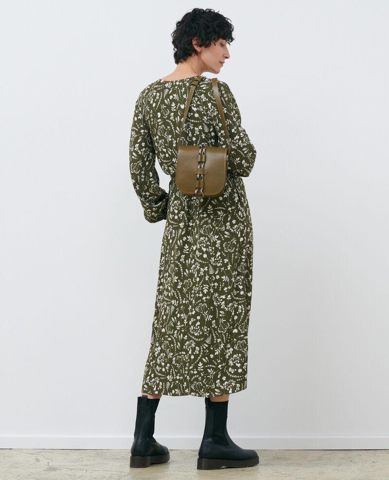 Robe longue imprimée Cyanotype olive Pavish