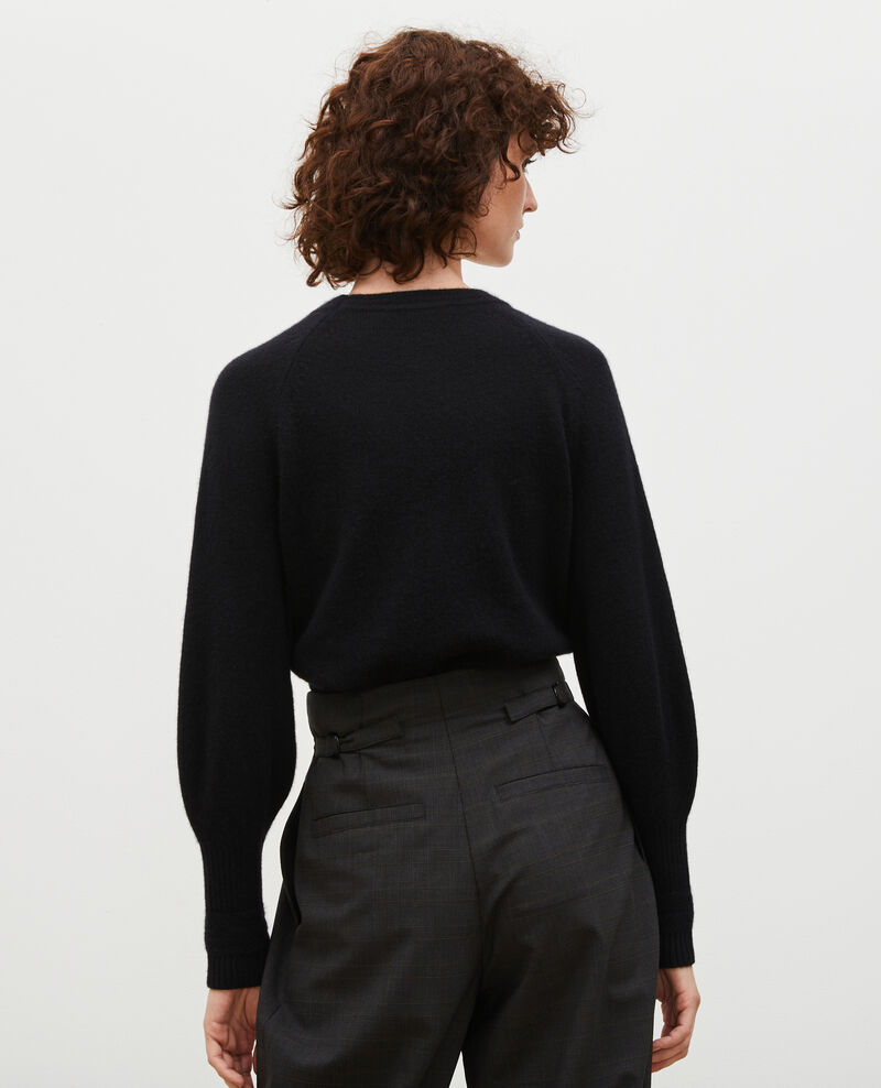 Pull en cachemire manches bouffantes Black beauty Migny