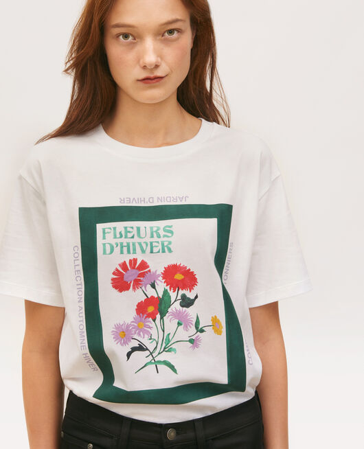 T-shirt en coton manches courtes ample DARK GREEN