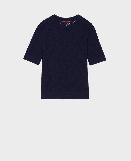T-Shirt en maille pointelle MARITIME BLUE