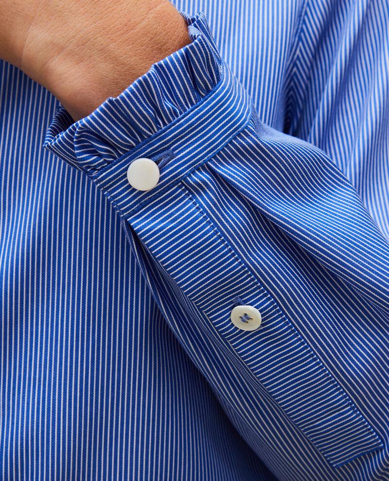 Chemise en coton à col montant volanté Blue as proto Mercenarai