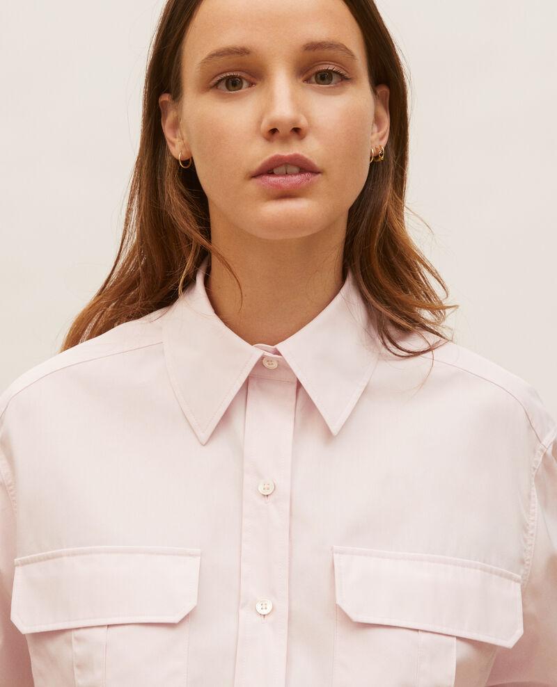 Chemise oversize  en popeline de coton Primrose pink Lauryl