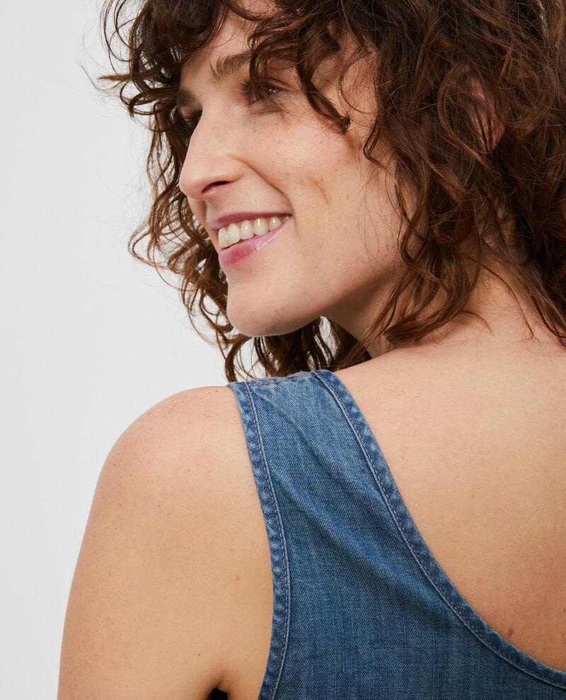 Robe en jean à bretelles Denim blue Noisa