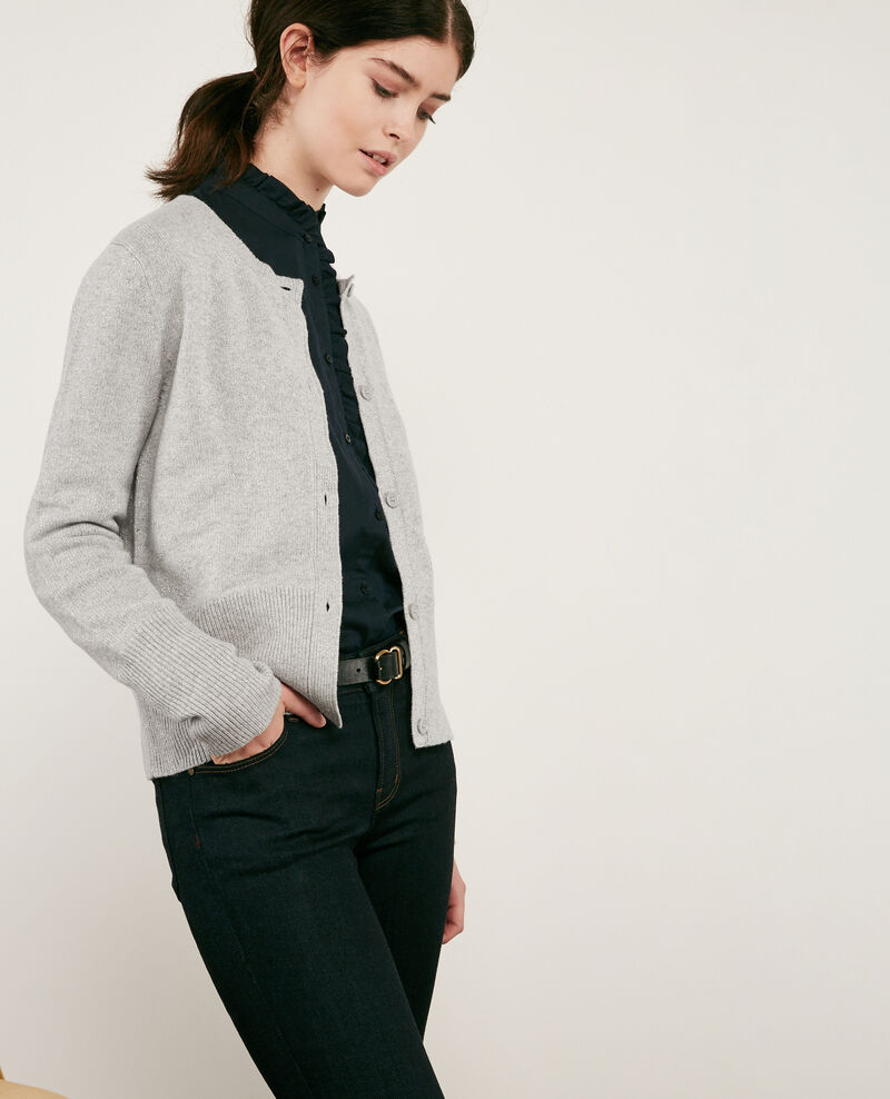 Cardigan scintillant avec laine Light grey Donovan