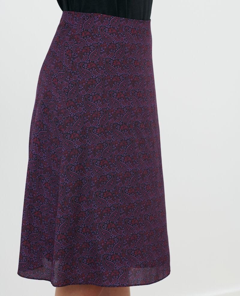 Jupe en soie Paisley purple Pirma