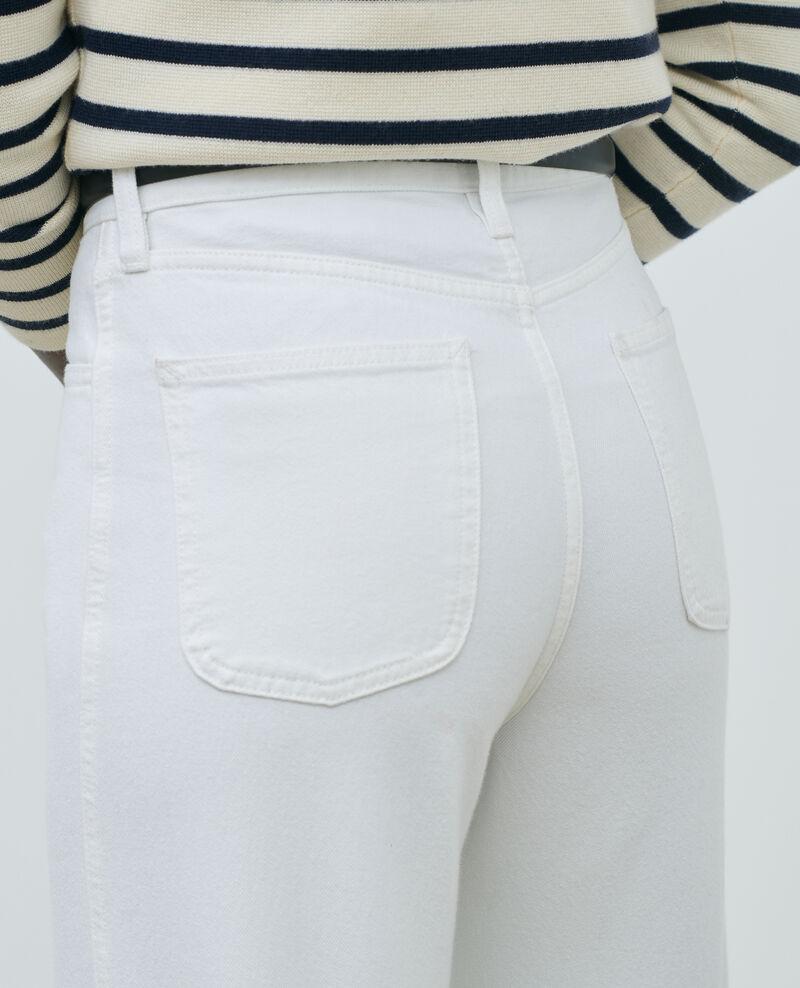 REGULAR - Jean blanc taille haute Optical white Napur