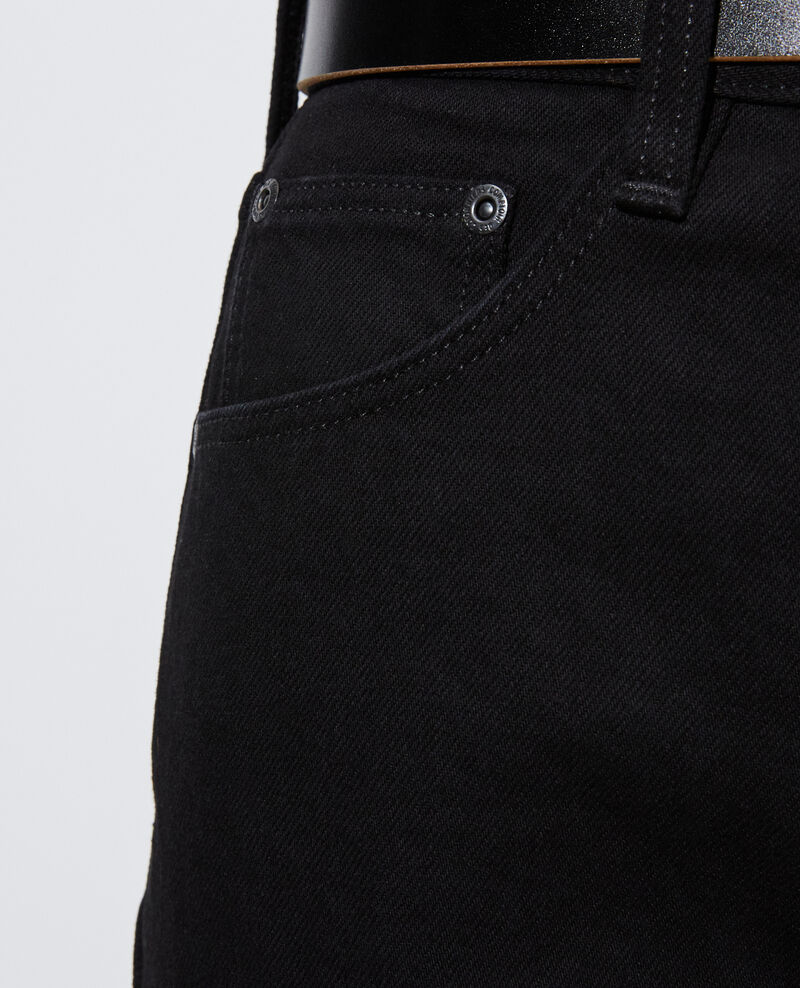 SYDONIE - BALLOON - Jean ample 7/8e taille haute Noir denim Palloono