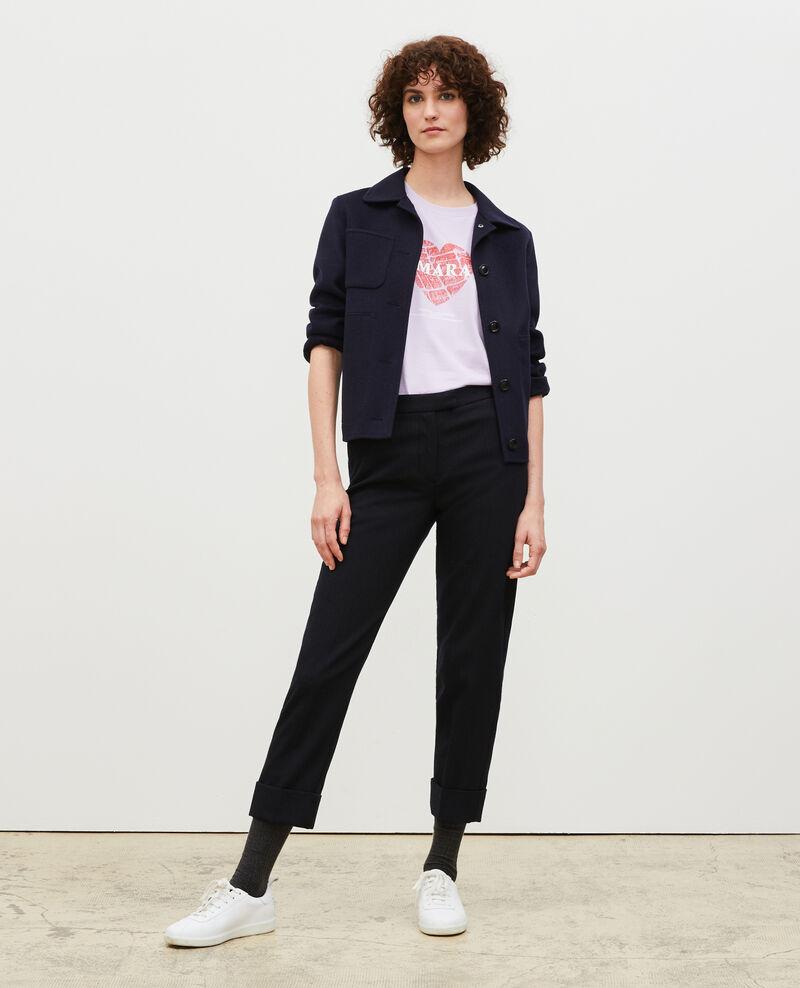 T-shirt en coton manches courtes Pastel lilac Mia