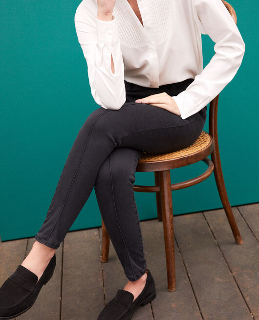 Jean skinny cropped 7/8 FADED BLACK