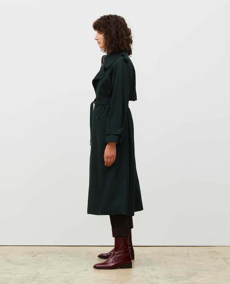 Trench long fluide en laine Scarab Messimy