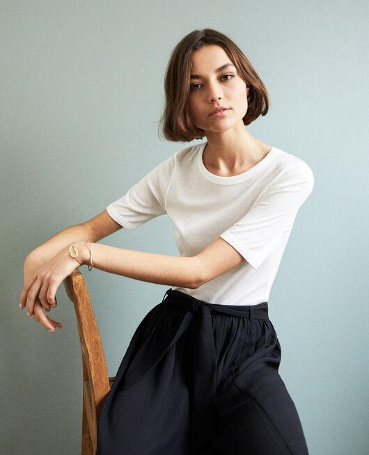 T-shirt côtelé OFF WHITE