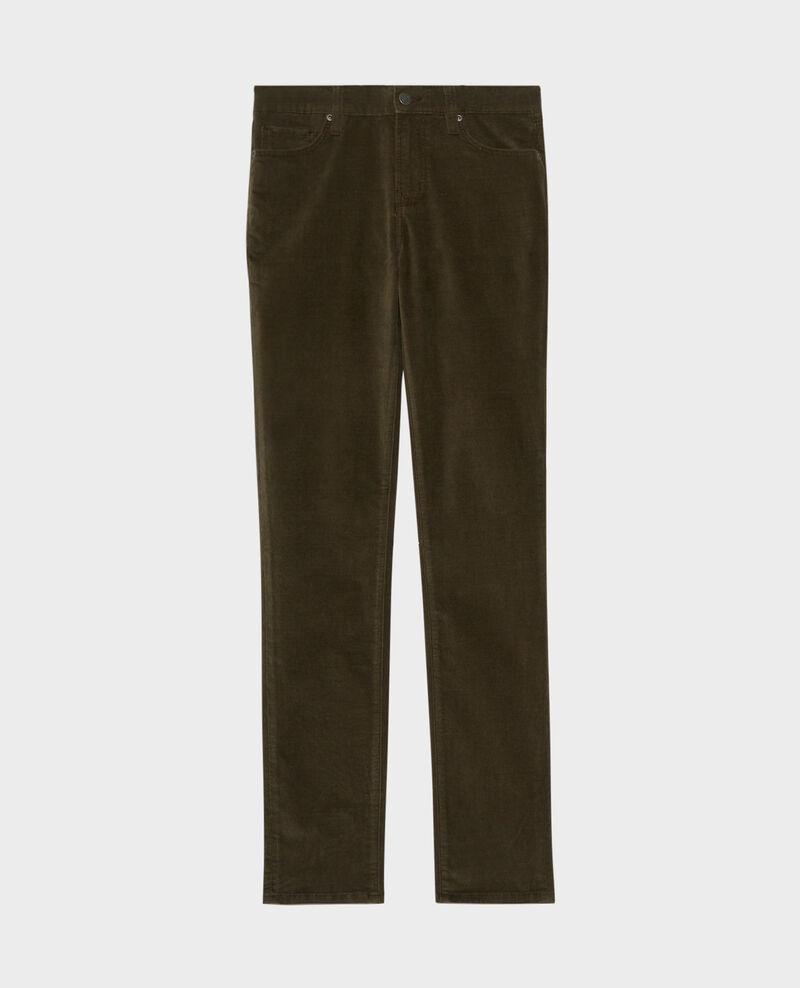 LILI - SLIM - Jean 5 poches Dark olive Pavelt