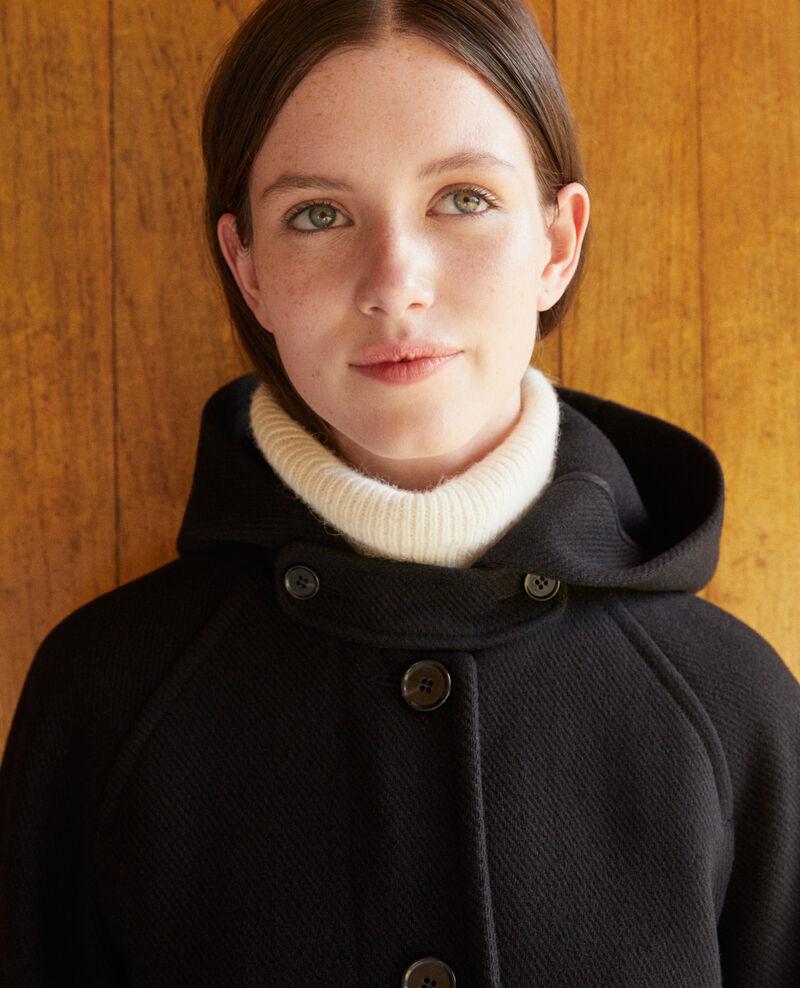 Manteau à capuche Noir Gustin