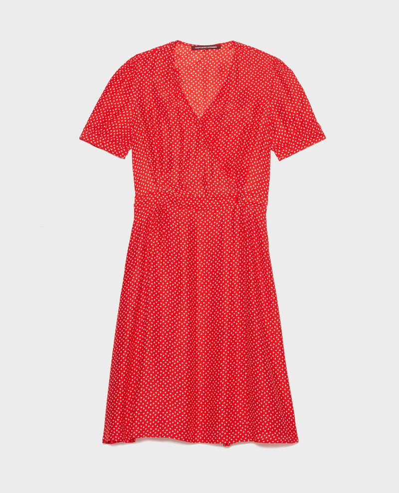 Robe portefeuille en soie Memphis fiery red Leanie