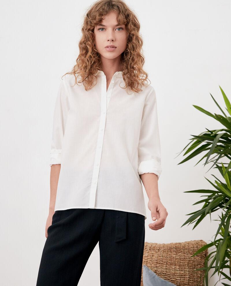 Chemise avec dos plissé Blanc Fratrie