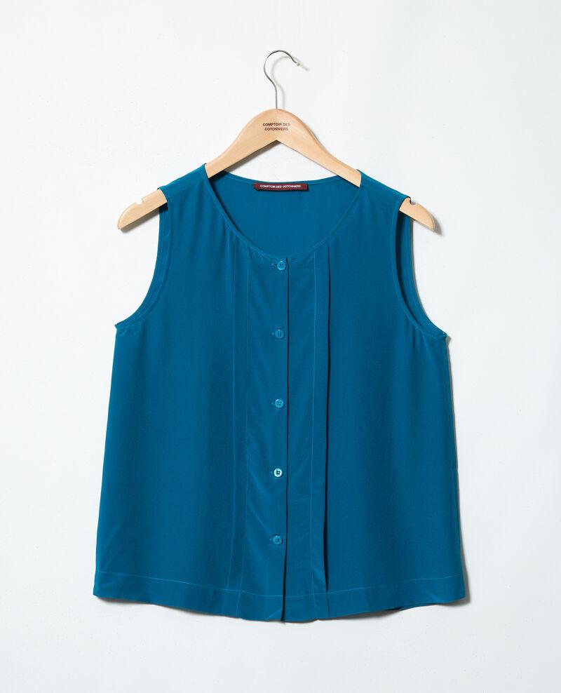 Débardeur en soie Turquoise Icon