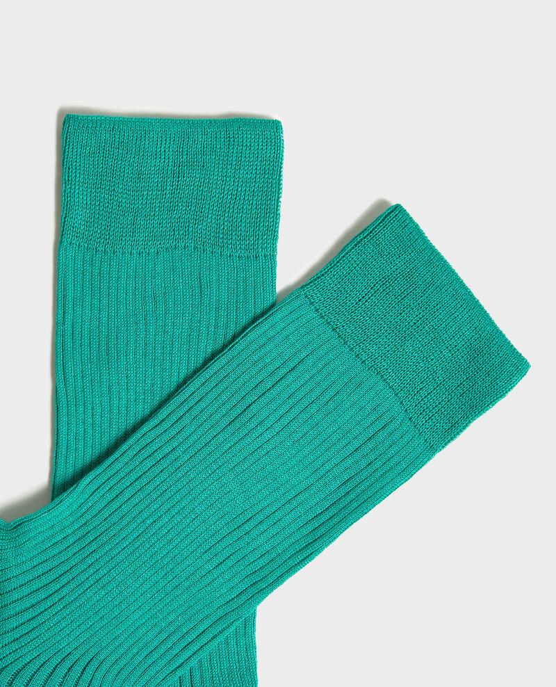 Chaussettes en coton côtelées Golf green Loig