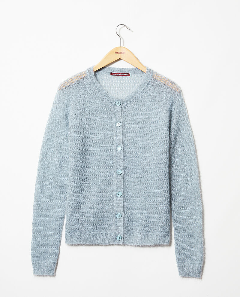 Cardigan avec du mohair Blue mirage Isidore