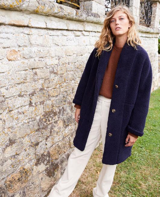 Manteau effet mouton  DARK NAVY