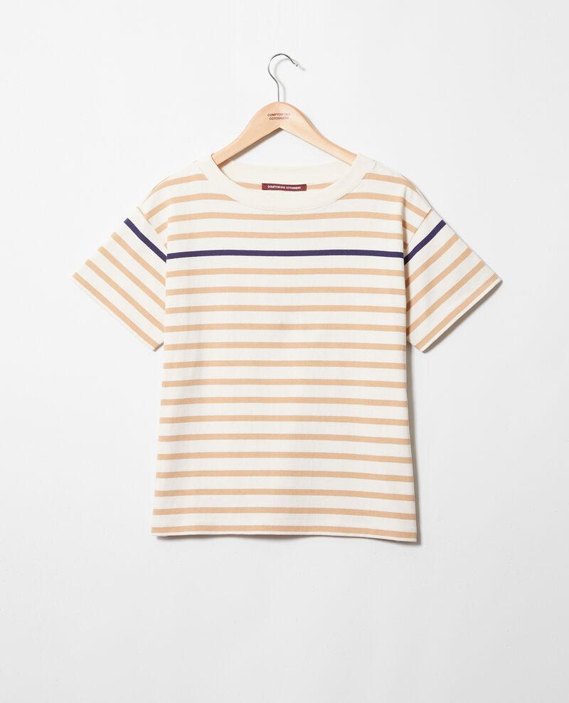T-shirt marinière Ow/camel/navy Ipanka