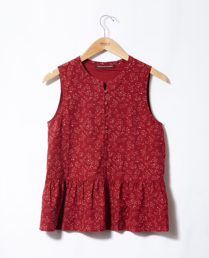 Blouse sans manches Anthemis bloom rio red Gascon