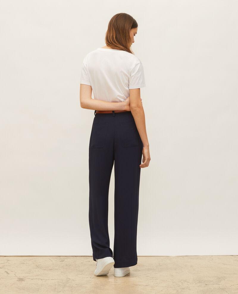T-shirt en coton à manches courtes col V Optical white Laberne