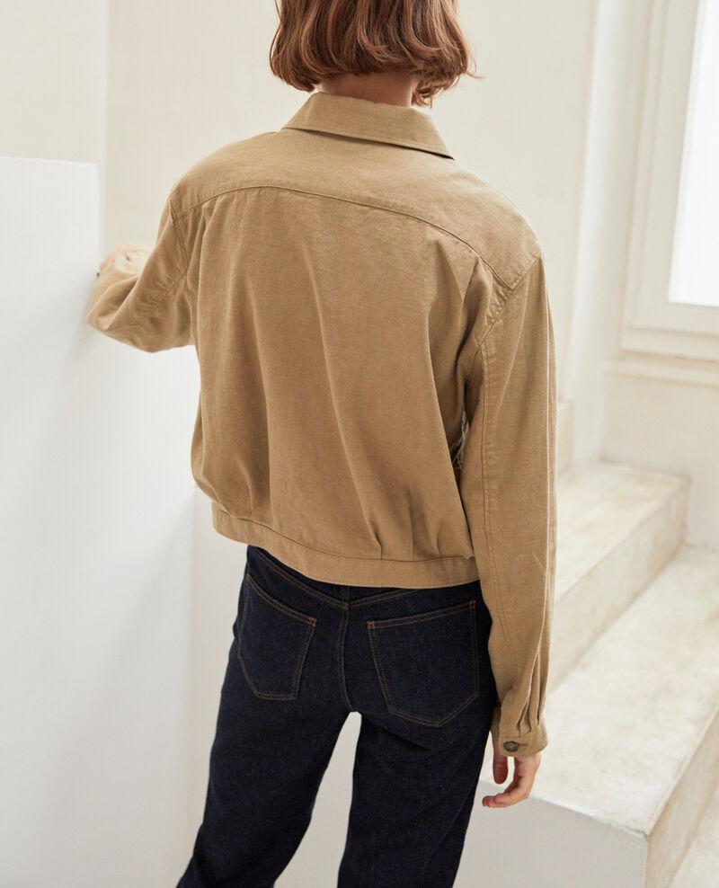 Veste courte avec du lin Natural beige Ikebana