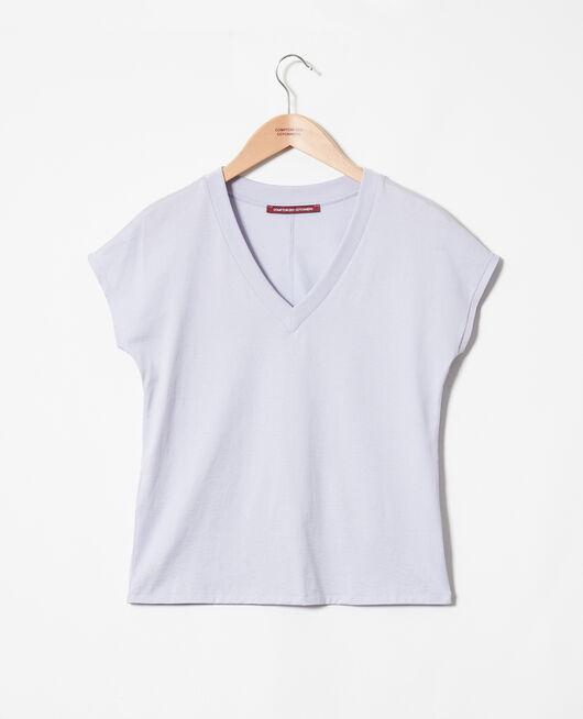 T-shirt col V PURPLE