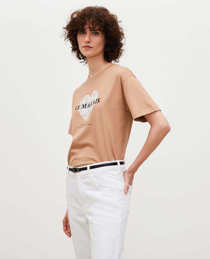T-shirt en coton manches courtes Latte Mia