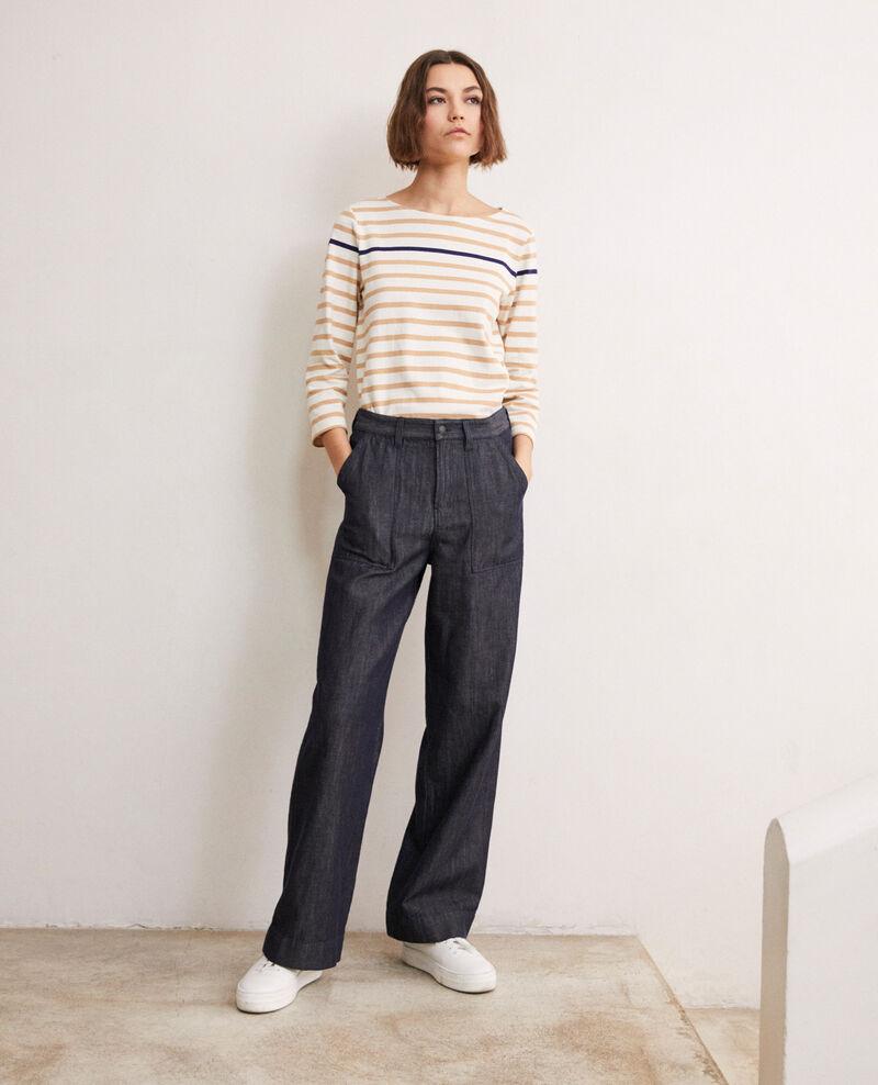 Pantalon avec du lin Indigo Ivoxin